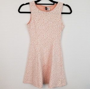 Divided by H&M Floral Faux Lace Mini Dress Size 4